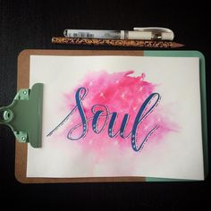 Soul 🙏🏻🌸🌺 #happyletteringchallenge @happyletteringchallenge : : : : #calligraphy #calligraphie #moderncalligraphy #brushcalligraphy #brushlettering  #typography #handtype #handlettering #word #font #lettering #handlettered #handwriting #brushlettered #letteringchallenge  #dailylettering #calligraphylove #design #art #inspiration #followme #brushpen #watercolor #brushscript #handwritten #lettering #scriptlettering #calligritype #goodtype