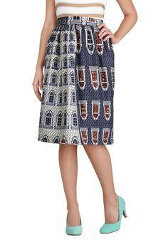 Shop Della on Modcloth!  Upside Townhouse Skirt | Mod Retro Vintage Skirts | ModCloth.com #Della #retro #vintage