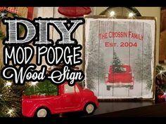 Mod Podge Wood Sign - Dollar Tree Gift Bag - YouTube