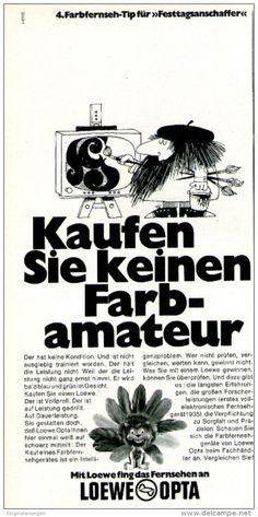 Original-Werbung/ Anzeige 1969 - LOEWE OPTA FARBFERNSEHER - ca. 115 x 240 mm