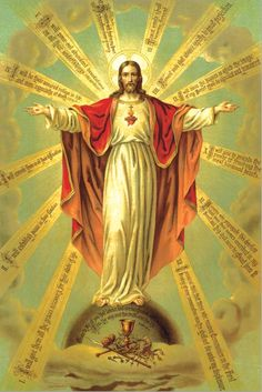 """theraccolta: """" The Twelve Promises of Our Lord to Saint Margaret Mary for those devoted to His Sacred Heart. """" God and Jesus Christ Religious Pictures, Jesus Pictures, Religious Icons, Religious Art, Image Jesus, Jesus Christ Images, Croix Christ, Jesus E Maria, Jesus Christus"""