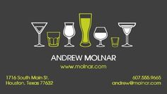 Bartender business card bartenders business cards and business colourmoves