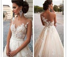 Wedding Dress,Marvelous Wedding Dress,Tulle Wedding Dress,Jewel Neckline Wedding Dress, Mermaid Wedding Dress,Lace Wedding Dress, Appliques Wedding Dress,2015 Wedding Dress,Handmade Wedding Dress,Custom Made Wedding Dress