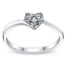 10K White Gold Diamond Promise Ring from @Robin Page Shrodr Brothers