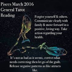 #Pisces Cause and affect are playing out now. How have you dealt with people in the past, did you avoid issues? Were you slow to address responsibilities? (tasks, jobs etc) not nice when it's happening to you though is it    For full reading go to https://instagram.com/p/BCiI9x4zRk7/ #WholesomeHealing #psychic #spiritual #tarot #tarotcard #holistic #constellations #march #zodiac #help #guidance #divination #energy #stars #starsign #wellbeing #angels #astrology #eclipse #intuition #love #work