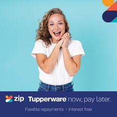 Good news!! Tupperware has Zip don't have enough money right now to purchase all those Tupperware goodies you've been after... we've made it easy simply order what you want and pay it off with flexible repayments interest free.  Let me know if you need any extra info... Mystery Host, Tupperware Consultant, Tupperware Recipes, Clear Plastic Containers, Deli Food, Shop Up, The Draw, Be Your Own Boss, Fruit And Veg