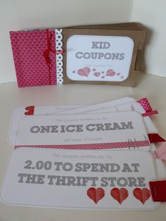 Small Fry & Co. : Valentines Coupon Books for Kids from Mom. Have to remember for next year! Super cute idea using paper bags to make a card holder