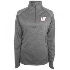 Find the  Misses' Wisconsin Badgers 1/4-Zip Pullover by  at Mills Fleet Farm.  Mills has low prices and great selection on all Women's Sports Apparel.