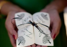 cootie catcher program by Alchemy Hour Designs Another aspect of the wedding you could really let your personality run wild is with your wedding paper. There are so many ways to go with your invitations and program – from traditional to quirky to completely out-the-box. We've gathered some of our favorite 'unique' ideas here. Be …