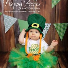 St Patrick's Day Lucky Outfit Irish Shamrock Holiday by whimsytots, $70.00