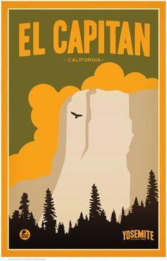 """Yosemite National ParkåÊwas established in 1890,åÊ""""One of the Most FamousåÊParks on Earth"""". Some 75 years ago, the U.S. government commissioned a series of posters to promote its national park system"""