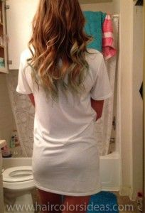 ombre hair with chalk