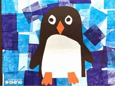 A beautiful mosaic and an adorable penguin! Winter art perfection!