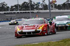 Ferrari getting ready to qualifyfor the Daytona 24 Hours. Daytona 24, Ferrari 488, Road Racing, Classic, Car, Derby, Automobile, Classic Books, Autos