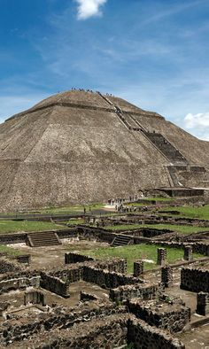 The pyramid of the Sun in Teotihuacanthe, world's third largest pyramid, Mexico. I've Climb this and its amazing!