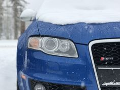 My first winter with her (B7 RS4) #Audi #cars #car #quattro