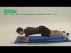Oefening rompstabiliteit: de plank (Exercise Core Stability: the plank)