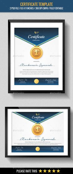 Buy Multipurpose Certificates Template by abira on GraphicRiver. This is a Multipurpose Certificates Template can be used this tepmlate on diploma, school, institution, collage, achi. Certificate Design, Certificate Templates, Certificate Of Appreciation, Award Certificates, Infographic Templates, Presentation, Stationery, Champion, Balcony