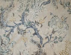 Shades Of Teal, Teal And Grey, Floral Print Fabric, Floral Prints, P Kaufmann Fabric, Covington Fabric, Green Lips, Faux Roman Shades, Damask Wallpaper