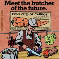 Every year, as more people discover the horrors and destruction caused by the animal industries, vegan companies and organizations become more popular and influential. At won't be long before many or most meatcutters follow the lead of @theherbivorousb and start doing their work on plants.  @veganstreet  #butcher #herbivorousbutcher #butcherofthefuture #meatcutter #thefuture #vegan #veganmeme #veganstreet #veganstreetmeme