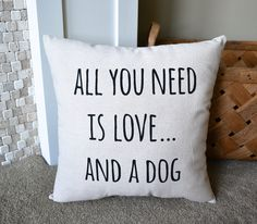 If you love your dog - you need this pillow in your home! This is also a great gift for the dog lover in your life.  This 16x16 pillow is made with...