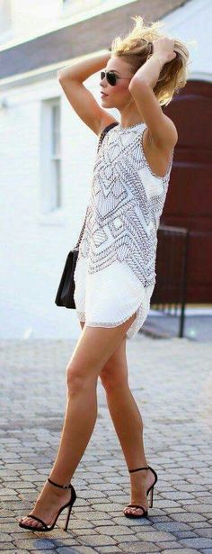 White casual dress.