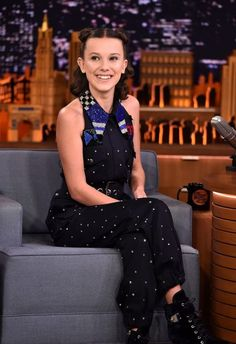 Millie Bobby Brown Photos - Millie Bobby Brown visits 'The Tonight Show Starring Jimmy Fallon' on October 2017 in New York City. - Millie Bobby Brown Visits 'The Tonight Show Starring Jimmy Fallon' Bobby Brown Stranger Things, Stranger Things Season, Stranger Things Netflix, Kelly Brown, Enola Holmes, Brown Fashion, Bobbi Brown, My Girl, Celebs