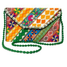 #Bridal #Clutch The fabric is antique textiles decorate. The inside is fully lined in cotton equipped with an inner pocket. The bag is made in a vintage ethnic style, it is especially appeal to admirers of bohemian style.