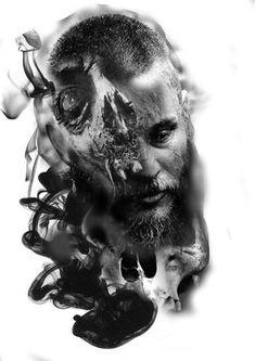 Viking Tattoos, Ozzy Tattoo, White Tattoo, Greek Tattoos, Realistic Tattoo Sleeve, Dark Tattoo, Tattoo Sketches, Black Tattoos, Tattoo Designs