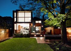 architecture modern residential project Post War House Converted Into Modern Residence in Canada