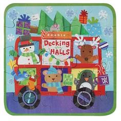 Mini Puzzle - Decking the Halls - By Jill McDonald - CR Gibson