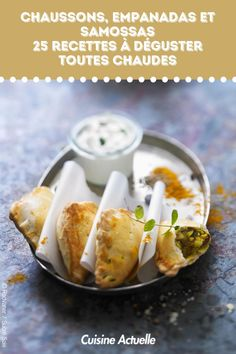 Chaussons, empanadas et samossas, 25 recettes à déguster toutes chaudes #cuisineactuelle #chaussons #empanadas #samossas #entrées Mo S, Galette, Empanadas, Ramadan, Baked Potato, Potatoes, Baking, Ethnic Recipes, Cooking Recipes