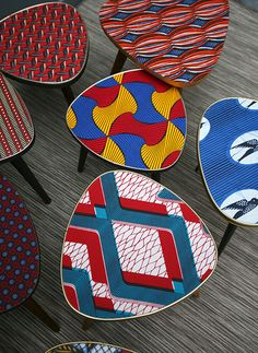 African print pattern tripod tables to brighten up your home