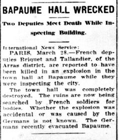 WWI, 28 March 1917, South Bend News Times, US