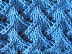 Zig Zag Lace stitch pattern   |   Video tutorial and detailed written Instructions