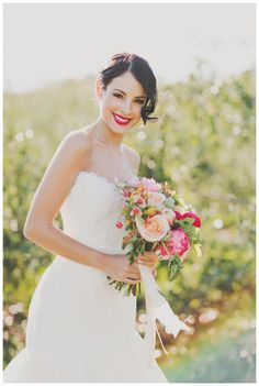 Beautiful #bride photographed in an apple orchard. Styling by Sarah Park Events, bouquet by Petal and Print, dress by Romona Keveza from Garnish Boutique, hair by Melanie Medeiros, makeup by Makeup Artist Liz Wegrzyn. Photographed at Baugher's Orchard by Nessa K Photography. #wedding #bridal