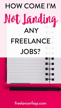 How Come I'm Not Landing Any Freelance Jobs? – New to freelance writing and can't figure out why it's so hard to land a freelance writing job? You're pitching day and night, checking the job boards, but still, no luck at landing a freelance job. Click here to find out why that's happening.