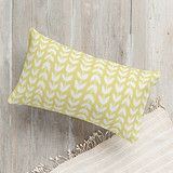 """""""Flower Fields - Leafy Vines"""" - Modern, Hand Drawn Pillows in Yellow by Beth Schneider. Hand Drawn, Fields, Vines, Bed Pillows, Pillow Cases, How To Draw Hands, Touch, Chair, Yellow"""