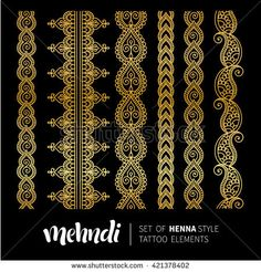 Find Ornamental Flowers Vector Set Abstract Floral stock images in HD and millions of other royalty-free stock photos, illustrations and vectors in the Shutterstock collection. Modern Mehndi Designs, Henna Designs, Mandala Design, Mandala Art, Alpona Design, Flower Art Drawing, Phulkari Embroidery, Lace Tape, Bookmark Template
