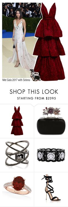 """Met Gala 2017 with Selena"" by sixsensestyles ❤ liked on Polyvore featuring Marchesa, Alexander McQueen, Eva Fehren, De Beers, Allurez and Gianvito Rossi"