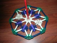K'nex Spining Jack: Its a classic from the game of Jacks. Bigger better spins faster and built from K'nex! Actually spins Activities For Kids, Crafts For Kids, Build Something, Kids Corner, Triangle, Games, Grandkids, School, Projects