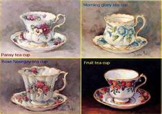 Tea cups by artist Barbara Mock
