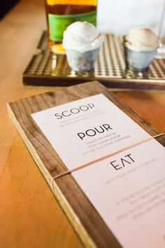 modern menu Photography by nathanpeelphoto.com, Event Planning by bluedahliaevents.com