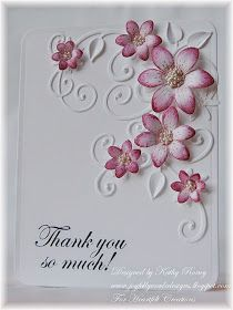 Happy Wednesday!   It's time for a little inspiration from Heartfelt Creations ! This week I have a little thank you note using Sun Kisse...