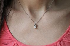 Gold Plated Crystal Owl Necklace by MichelleMilward on Etsy, $34.50