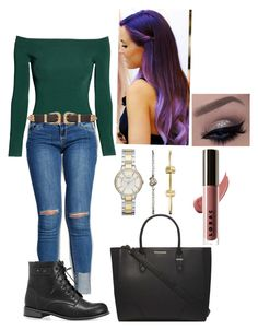 """""""PURPLE"""" by frenkiefashion on Polyvore featuring FOSSIL, H&M, Wet Seal, B-Low the Belt, Avenue, Dorothy Perkins and LORAC"""
