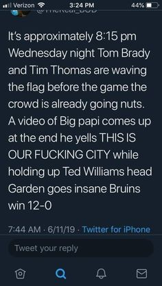Tim Thomas, Tom Brady, Boston Bruins