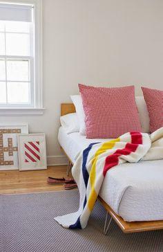 colorful + modern bedroom
