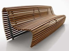 Modern furniture chair Called Tititkaka Bench By Naoto Fukasawa