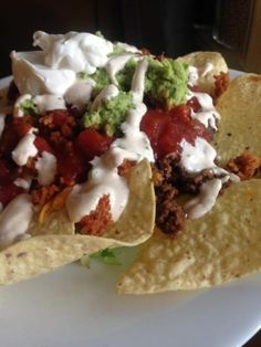 Nacho Platters Create yours like now - JAHzKitchen Cheese Curds, Cheddar Cheese, Cilantro Cream Sauces, Flavored Cream Cheeses, Make Sour Cream, Breakfast Nachos, Seven Layer Dip, Creamed Onions, Taco Sauce